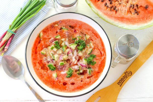 Gazpacho from watermelon