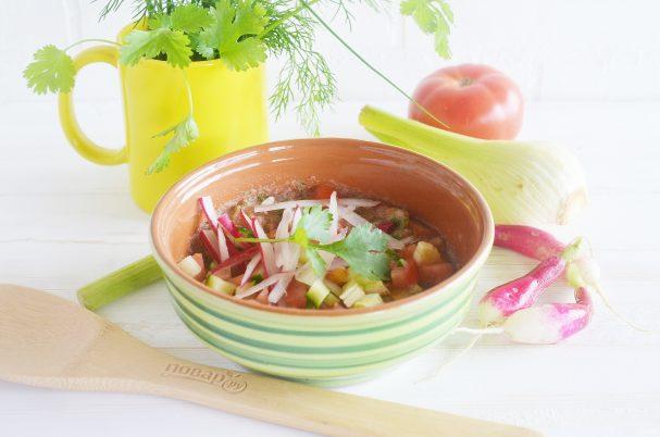 Gazpacho with radish and fennel