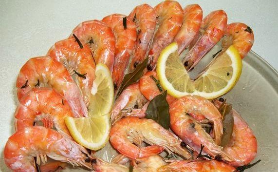 Boiled shrimp for beer