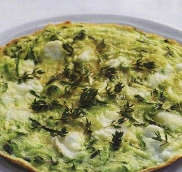 Omelet with zucchini and cheese