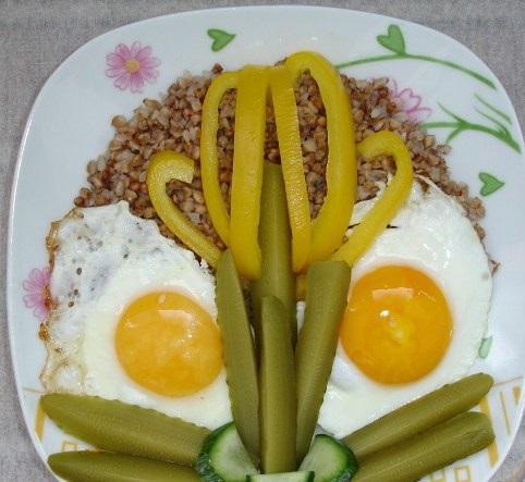 Cheerful breakfast