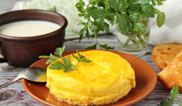 Milk omelet, in a jar