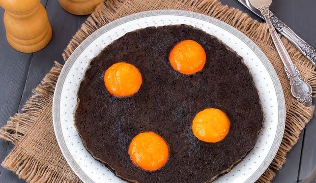 Black scrambled eggs