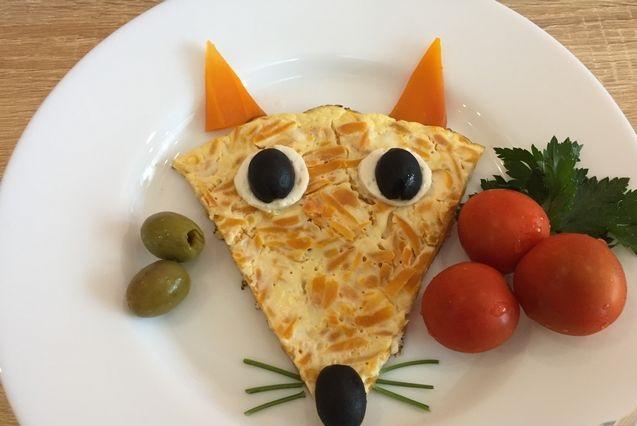 Carrot omelet