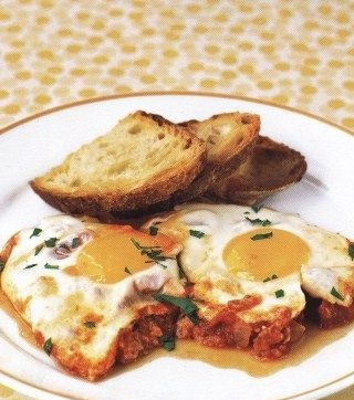 Best Scrambled eggs with tomato sauce