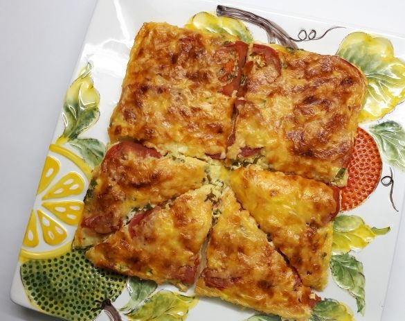 Zucchini omelet (oven)