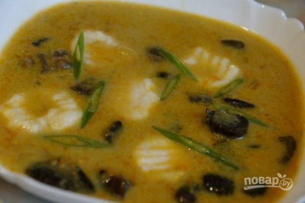 Mushroom soup with boletus