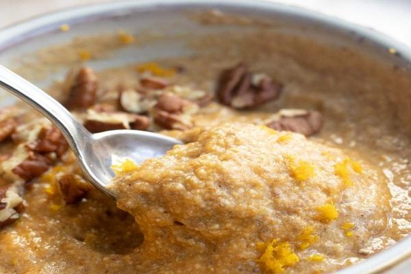 Pumpkin keto porridge with coconut flour