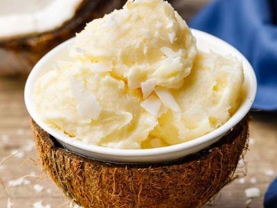 Coconut keto ice cream