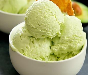 Creamy keto avocado ice cream