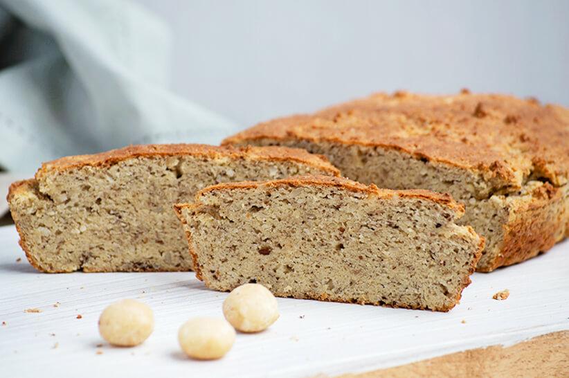 Keto macadamia bread