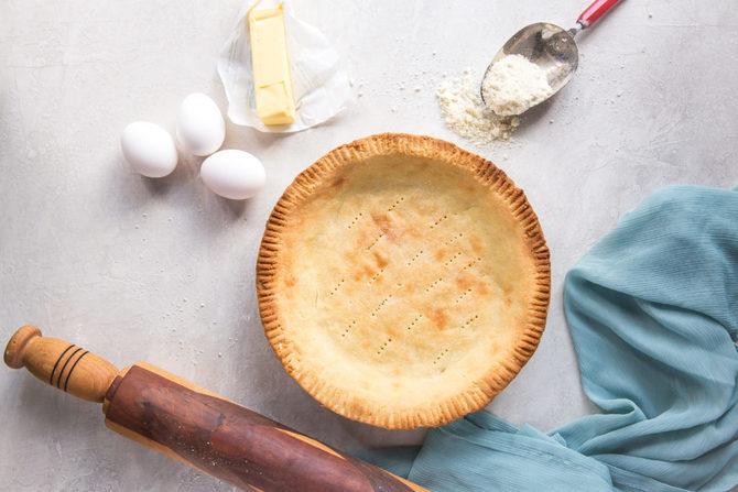 Puff salted keto pie dough