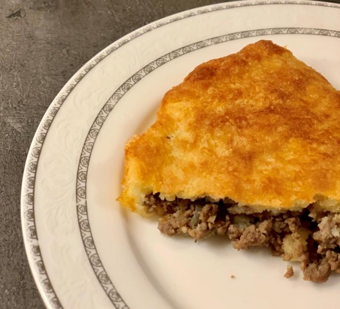 Meat keto pie