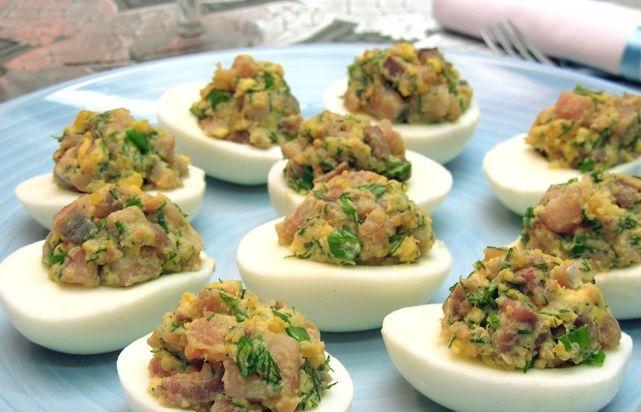 Best Herring stuffed eggs