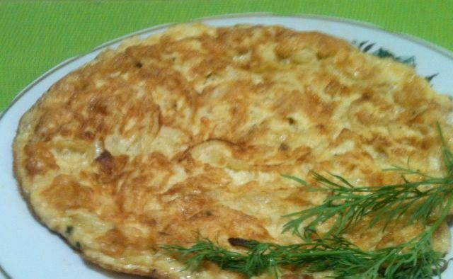 Omelet with onions