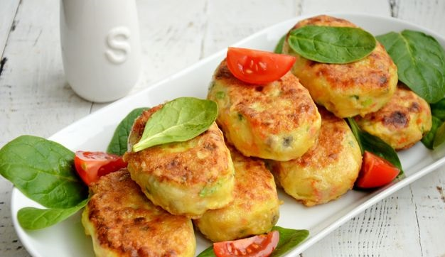 Potato cutlets with mushrooms and carrots