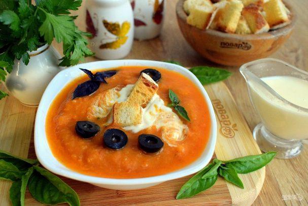 Cold squash caviar soup