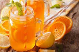 Apple-orange compote with wine
