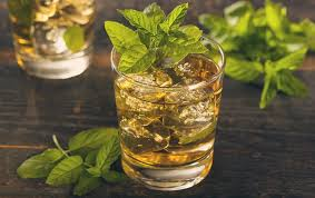 Whiskey mint cocktail