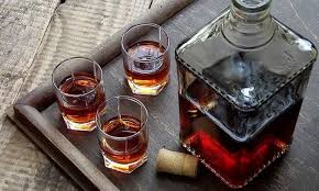 Homemade cognac made from simple ingredients
