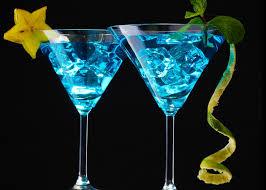 Blue Hawaiian rum cocktail