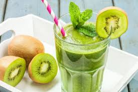 Apricot drink with kiwi