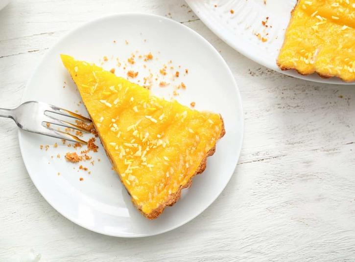 Lemon Curd Keto Almond Flour Pie
