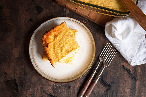 Keto cottage cheese casserole with almond flour
