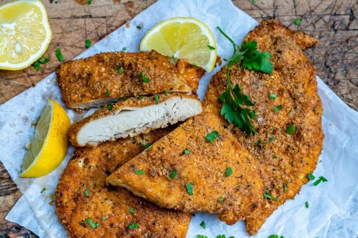 Chicken fillet keto cutlets