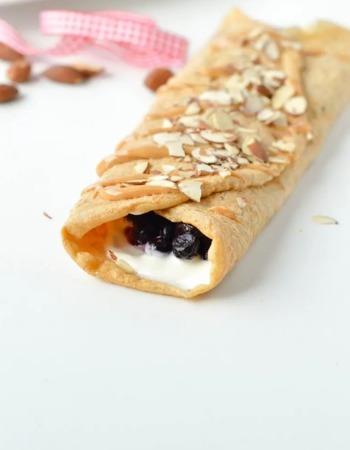 Thin keto pancakes with almond flour