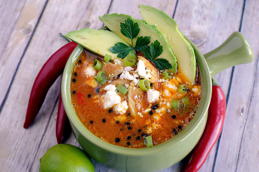 Chicken Spicy Keto Soup
