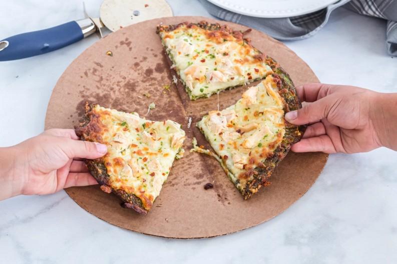 Keto pizza with broccoli