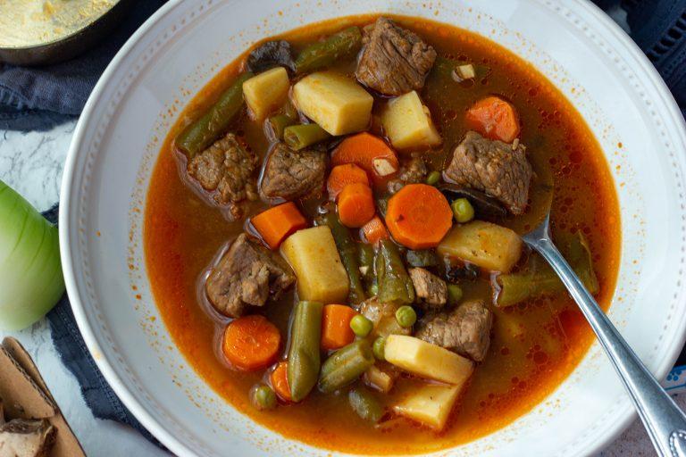 Keto beef soup