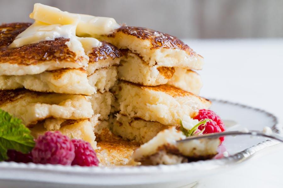Keto pancakes with coconut flour buttermilk