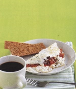 Unusual omelet with goat cheese