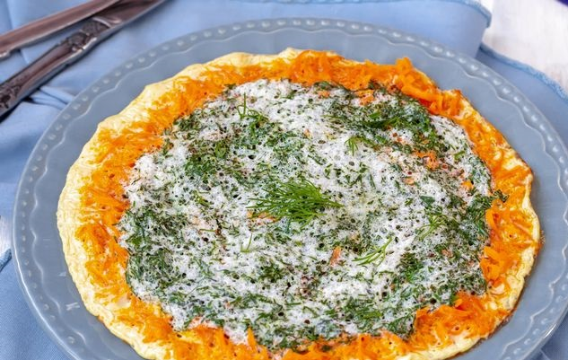Protein omelet with carrots