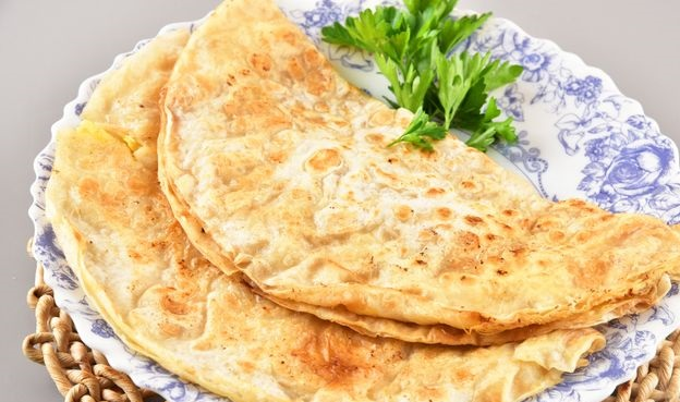 Lavash with egg filling