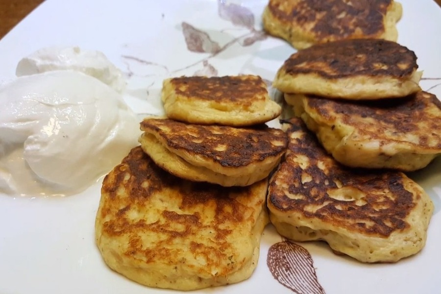 Keto pancakes with chicken without flour