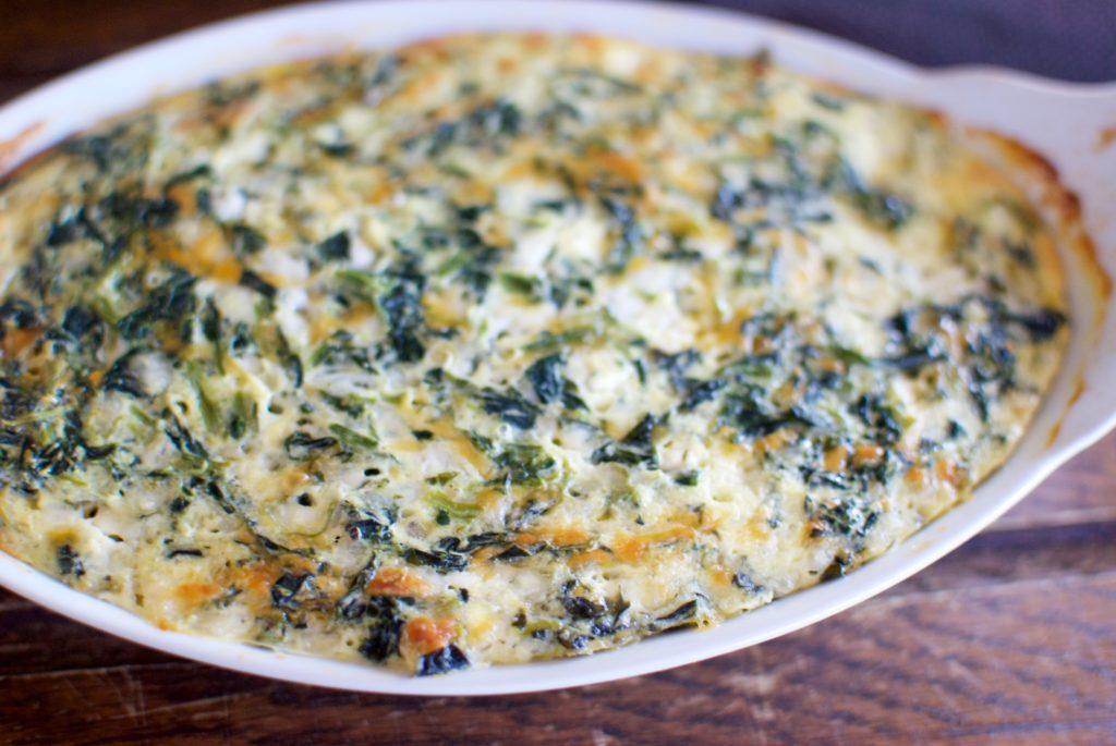 Keto Spinach Cheese Pie