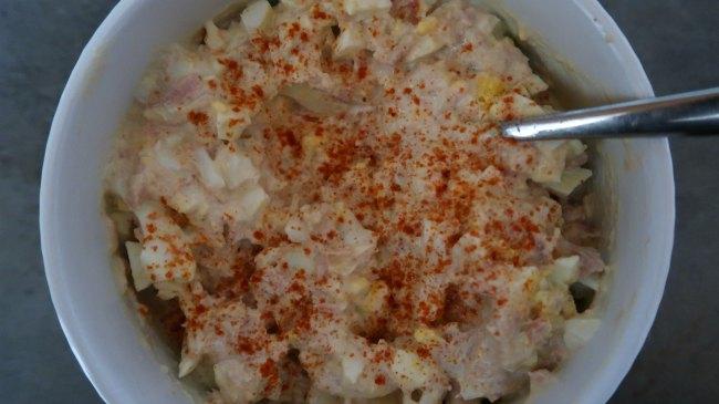 Best Keto salad with tuna and egg