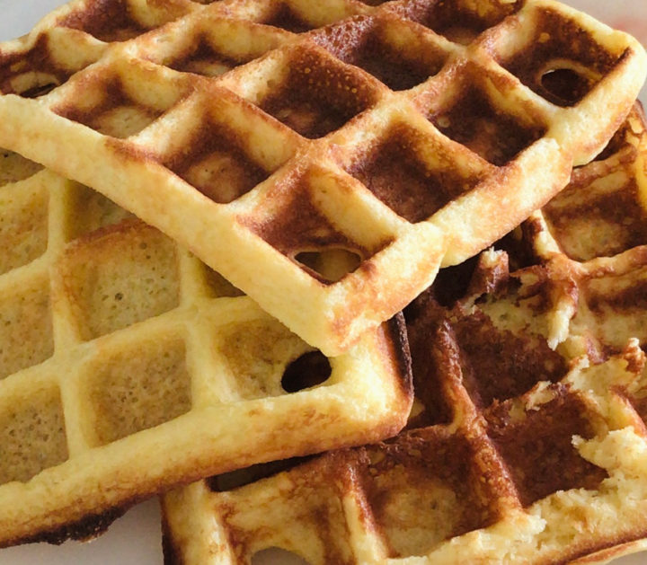 Waffles with cheese