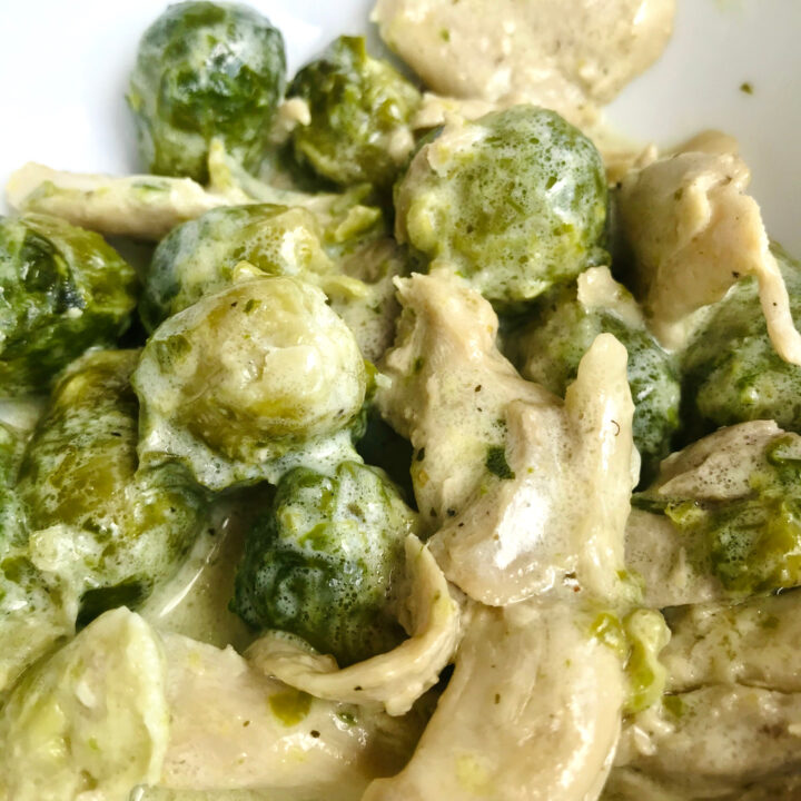 Keto Dinner: Brussels Sprouts with Chicken