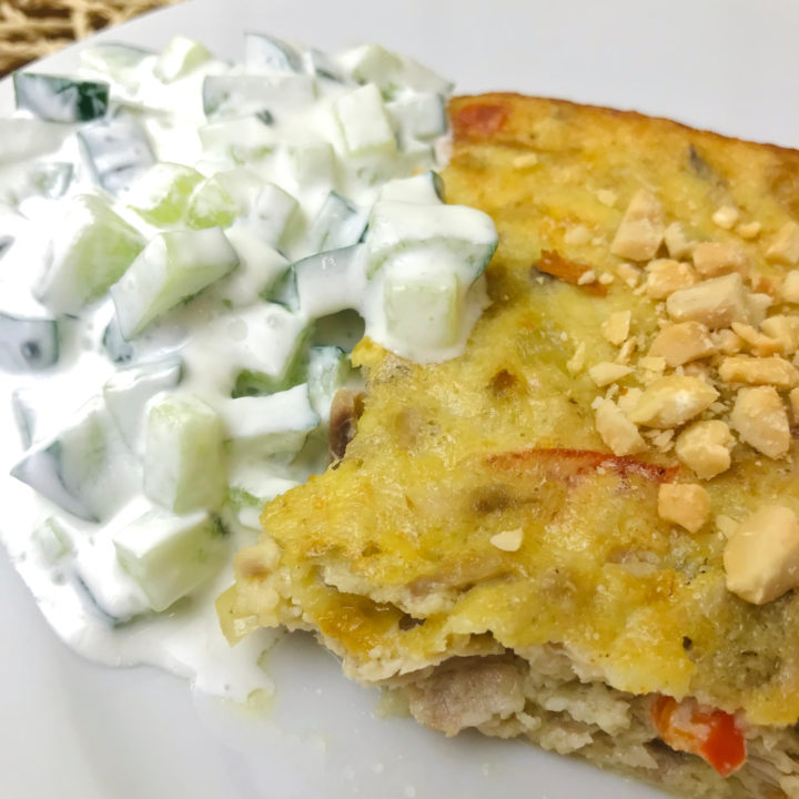 Cottage cheese casserole with tuna