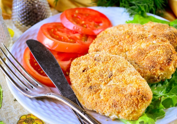 Potato cutlets in the oven