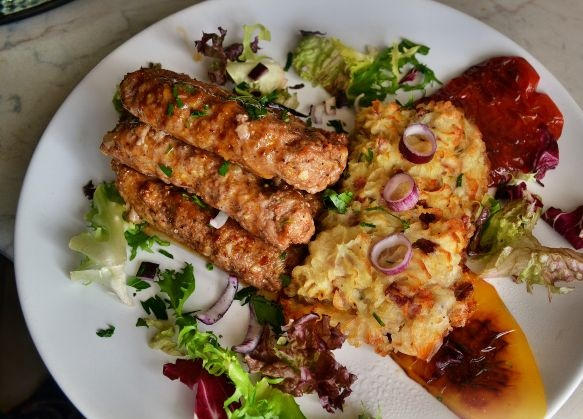 Serbian cutlets with mashed potatoes