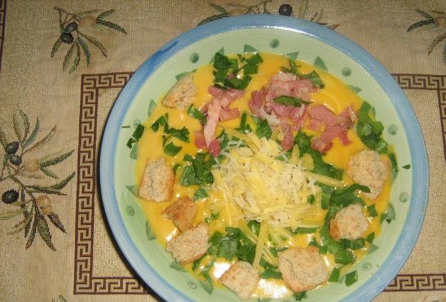 Pumpkin and potato puree soup