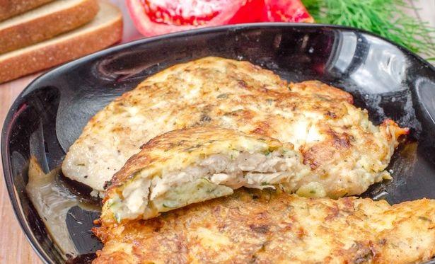 Chicken chops in potato batter