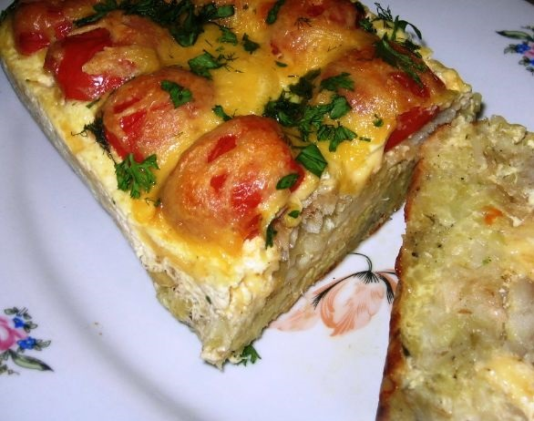 Potato casserole with fish