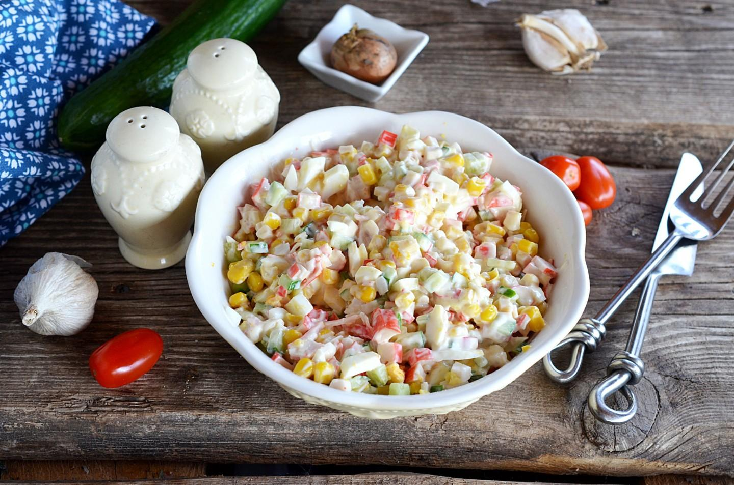 CRAB SALAD WITH CORN CLASSIC WITHOUT RICE