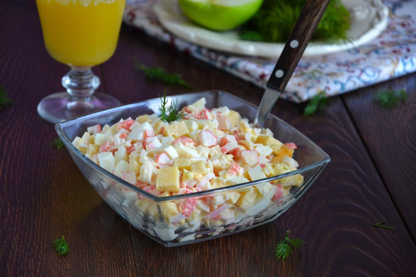 CRAB SALAD WITH CHEESE AND EGGS